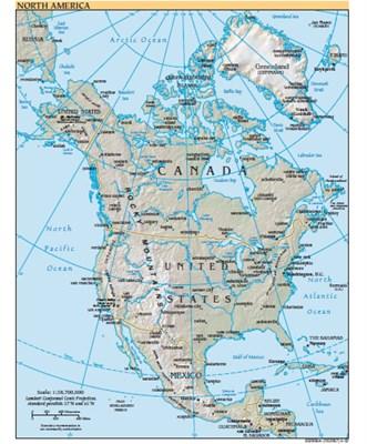 Harta America De Nord Ofertă Gratuită Din Partea Lui Mi Mi Pe