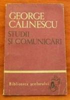 George Calinescu- studii si comunicari