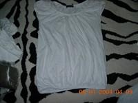 tricou dama alb cu manecute bufante