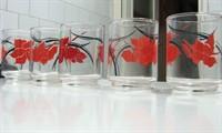 5 paharele cu motiv floral