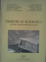 Probleme de matematica pentru absolventii de liceu