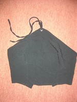 Top negru tip corset