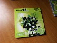 Cartela Bonus 48 Energy Cosmote