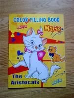 Carte de colorat 'The Aristocats' + 50  abtipilduri cu pisicute