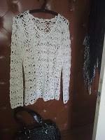 Bluza alba, tricotata - mar L