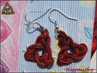 Cercei handmade Duo Red Triquetra