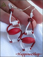 Cercei handmade White or Red