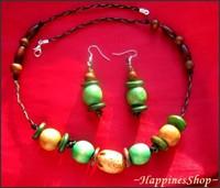set handmade Green forest
