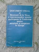 Carte Document final al Reuniunii de la Viena