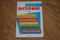 Dictionar de sinonime, omonime, paronime, antonime, pleonasme