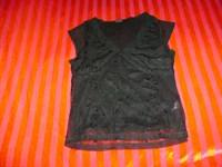 tricou negru elegant