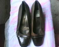 Pantofi maro cu bot lucios