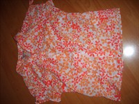 bluza floricele portocalii