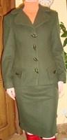 Costum stofa groasa verde