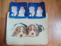 Mousepad catei si 2 suporturi de pahare cu pisici