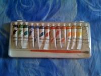 Culori TEMPERA 14 tuburi + 1 pensula