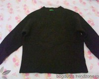 Pulover lana negru United Colors of Benetton