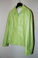 Jacheta Piele Culoarea Marului Verde