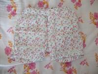 Pantaloni subtiri bebe cu floricele, masura 68
