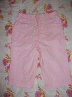 Pantaloni bebe subtiri, 100% bumbac, roz, 6 luni