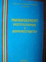Management institutional si administrativ