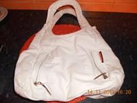 geanta alba din panza