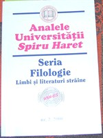 "carte ""Analele Universitatii Spiru Haret"", seria Filologie"