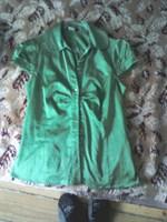 Camasa verde din matase