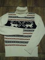 pulover cu model de iarna/sarbatori, marimea S
