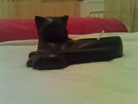Pisica de ceramica - suport lumanare