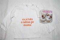 O bluza si o pereche de ciorapei pentru bebe