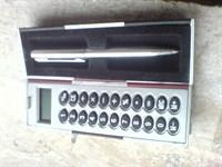 minicalculator de buzunar, cu pix