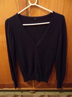 pulovar bleumarin cu nasturi (Takko)