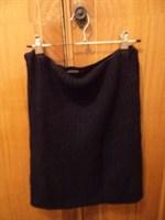 fusta/top tricot negru