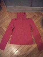 Bluza fuchsia BSK, pe gat cu fermoar, marimea L