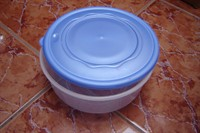 recipient plastic cilindric