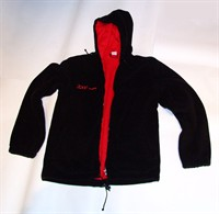 Hanorac Fleece (polar) captusit, negru - inscriptionat ZAPP