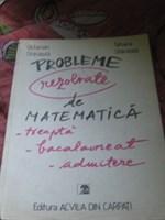 Carte  Probleme rezolvate de matematica