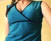 Tricou albastru tip maieu