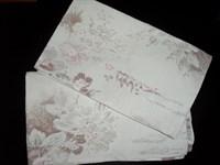 2 fete de perna inflorate (maro/roz)