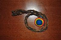 Medalion multicolor din fimo