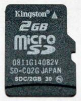 Card de memorie 2Gb microSD pentru telefonul mobil