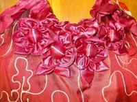 geanta din satin grena - noua