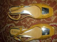 Sandale de vara culoarea mustarului