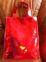 geanta rosu metalizat