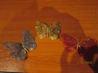 3 fluturasi de decor cu sclipici
