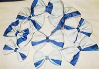 Papioane albastru-alb handmade