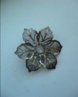 Brosa floricica argintie