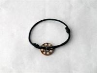 Bratara mica cu medalion arama si pietricele zirconiu