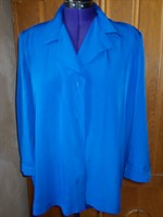 bluza gen sacou, albastru intens -  XL,XXL